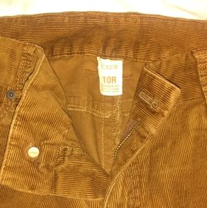 J. Crew Matchstick Velvet Pants